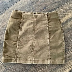 Free People Modern Femme Mini Skirt Green